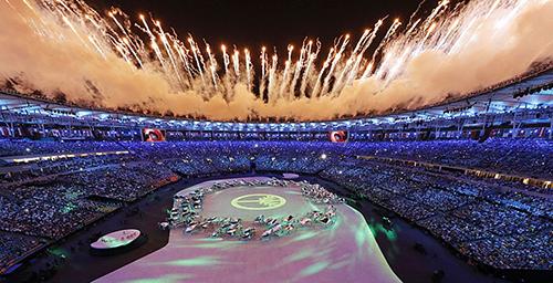 """里约奥运会开幕 """"巴西绿""""贯穿全场图片"""