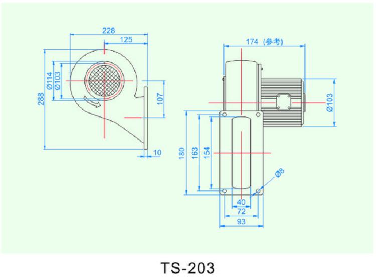 东洸低压冷却风机TS-203怎么选型
