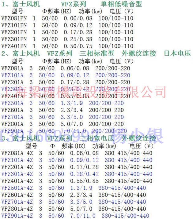 VFC708AF-S富士VFC系列v旋涡旋涡风机-台湾世嘉车