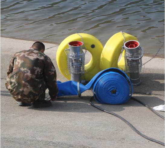 移动发电排水一体泵车作业图